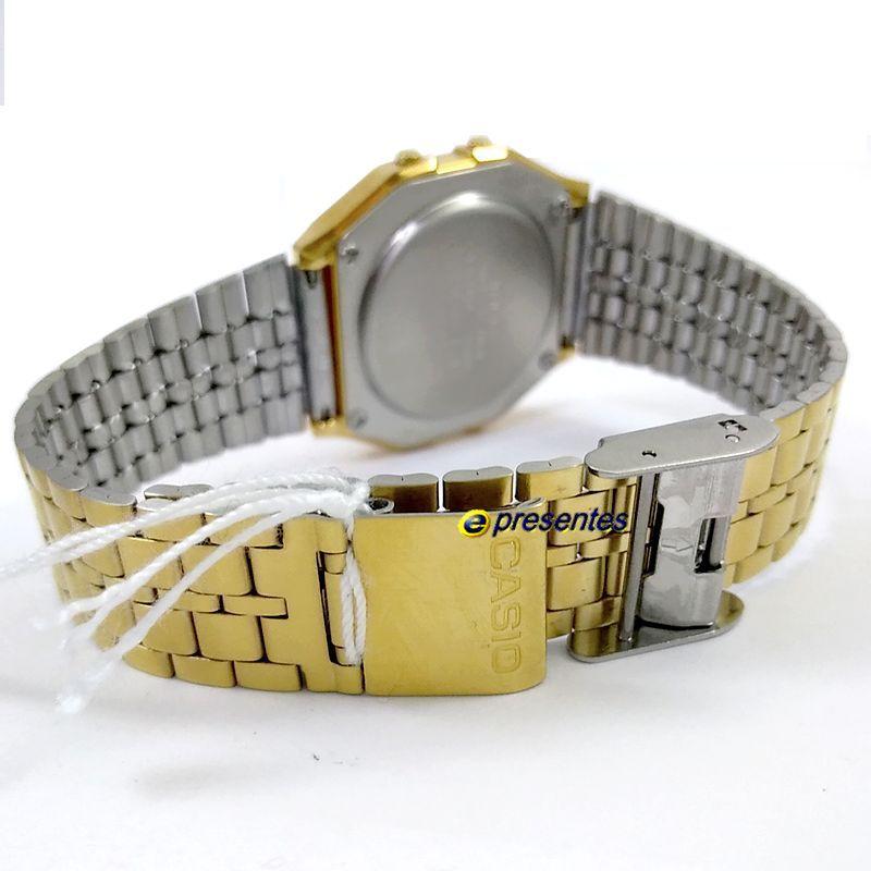 Relógio Casio Dourado A159WGEA-1df 100% Original 1ano Garantia  - E-Presentes