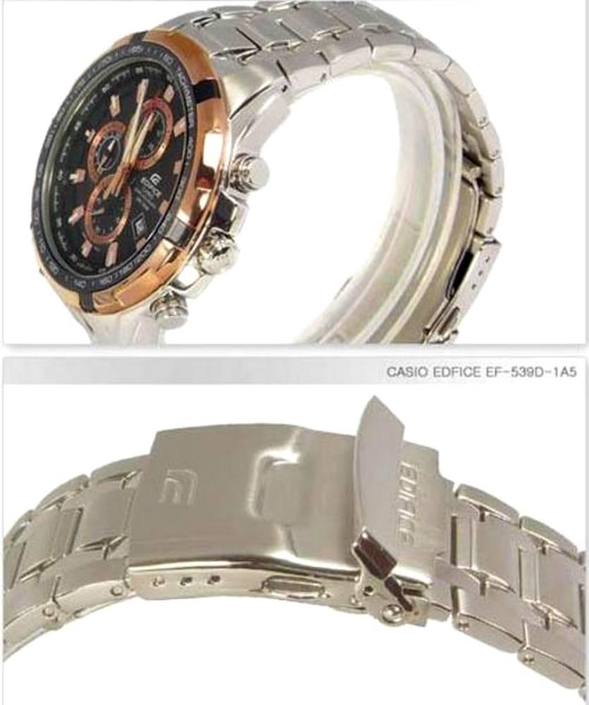 Relógio Casio Edifice EF-539D-1A5 Aço Inox Preto/Bronze 100% Original  - E-Presentes