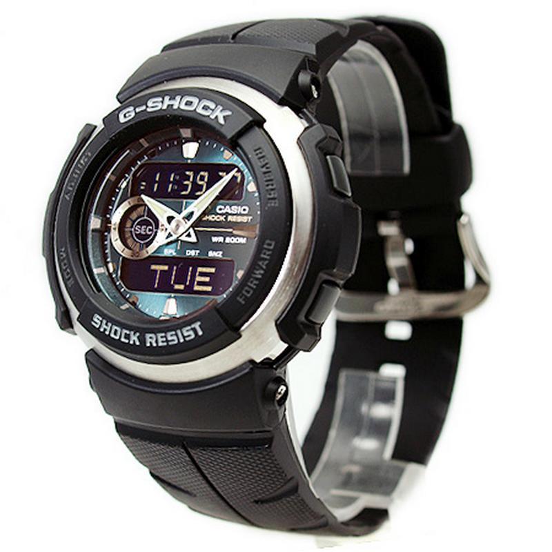 Relogio Casio G-Shock G-300-3AV WR200m Crono Temporizador  - E-Presentes