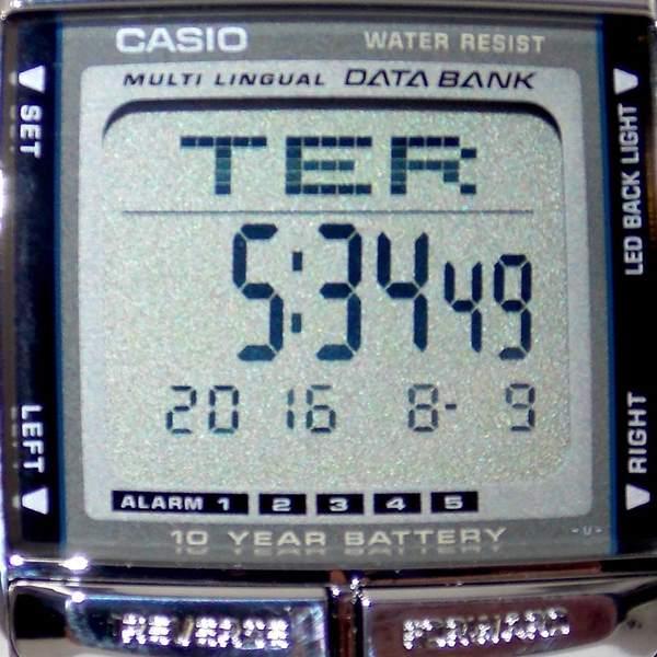 Relógio Casio Prateado Databank Retrô Vintage Db-360-1adf  - E-Presentes