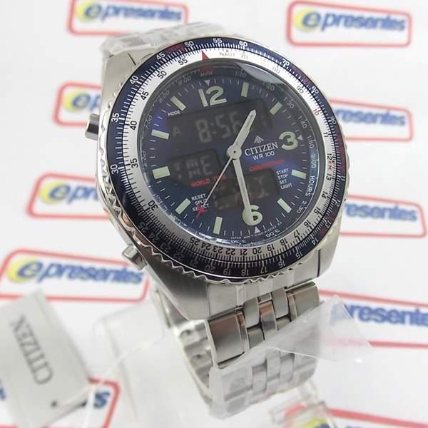 Relógio Citizen Wingman Azul 1ano Garantia Original Jq8007 Anúncio com variação  - E-Presentes