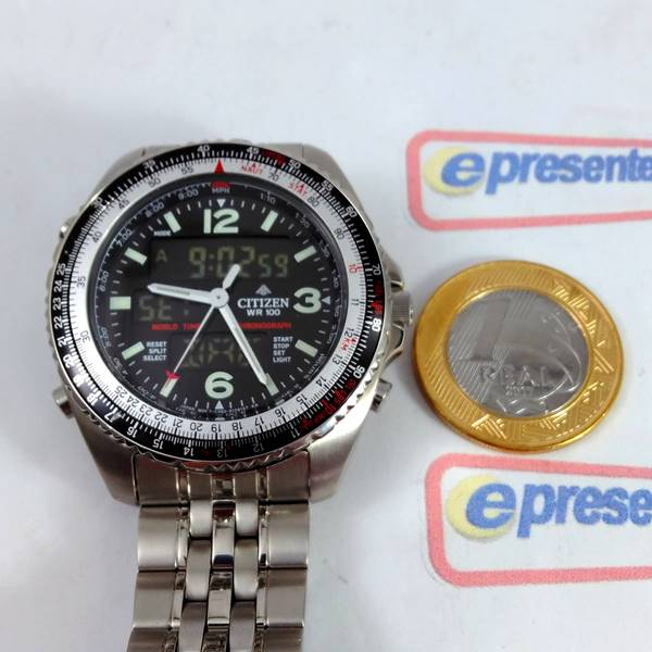 Relógio Citizen Wingman Promaster Cronógrafo JQ8001-57E - TZ10075T  - E-Presentes