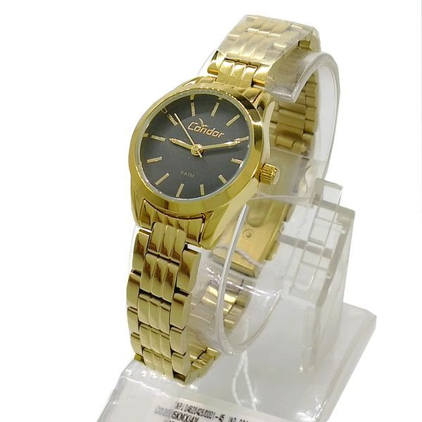 Relogio Dourado Feminino Condor MIni 25mm CO2035KMX/4V WR50M  - E-Presentes