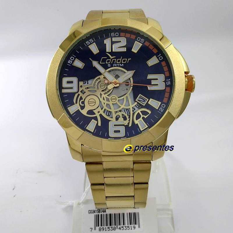 Relógio Condor Dourado Grande Masculino Civic CO2415BI/4A 56mm  - E-Presentes