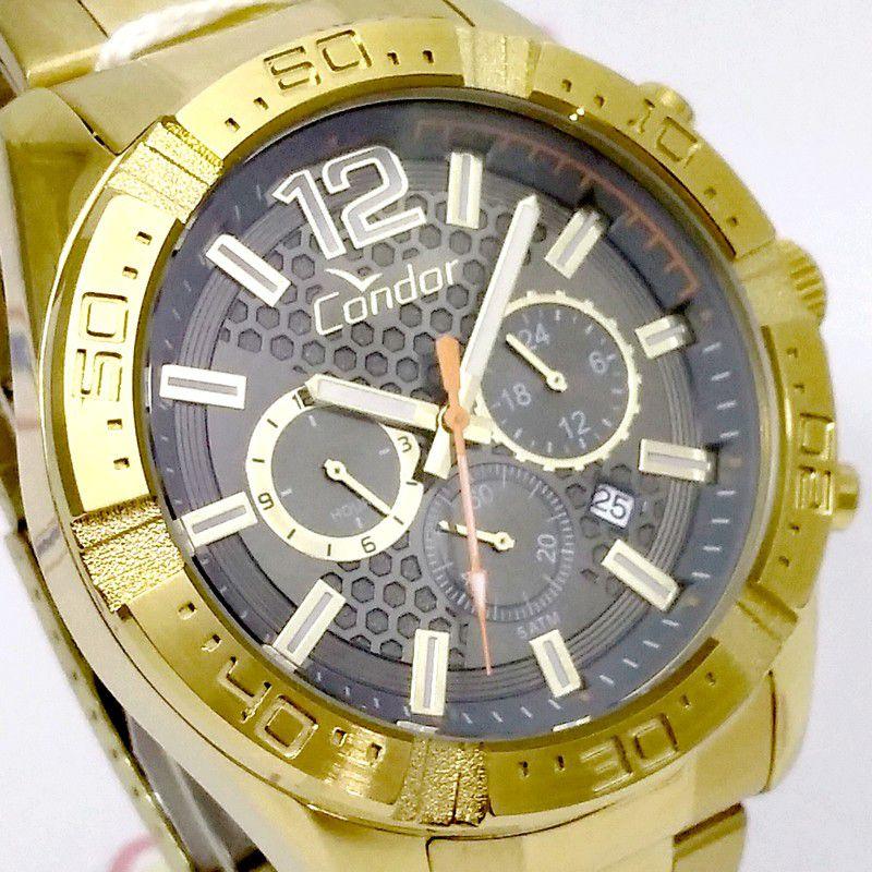 Relógio Condor Dourado Masculino Gradeados COVD33AR/4C  - E-Presentes