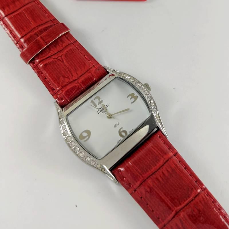 Relógio Condor Feminino Pulseira Couro Vermelho Kw35200v  - E-Presentes