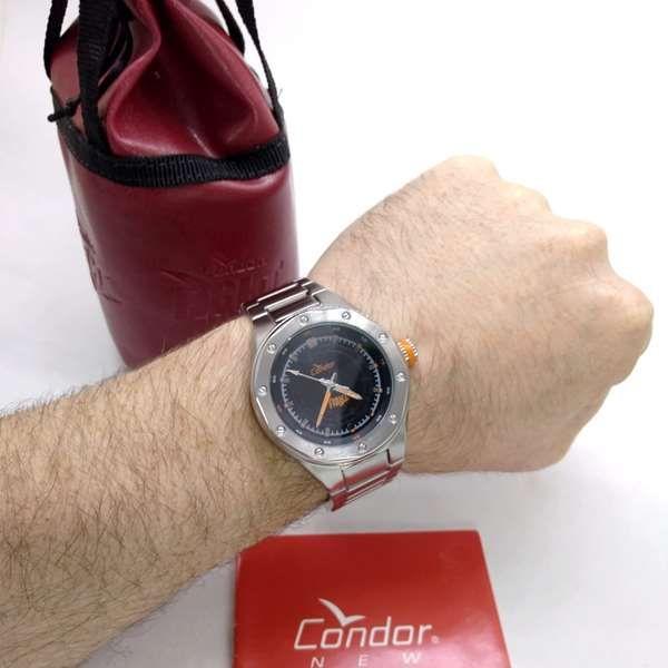 Relógio Condor Fight Masculino Aço Maçico KO25835P  - E-Presentes