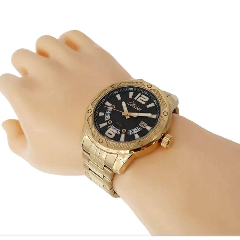 Relógio Condor Masculino Ferragens Dourado CO2415BL/4P  - E-Presentes