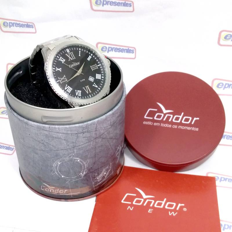 Relógio Condor Prata Analógico Masculino CO2115KUC/3P  - E-Presentes