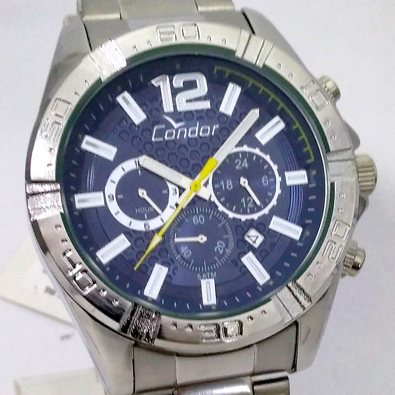 Relógio Condor Prateado Masculino Gradeado  COVD33AQ/3A  - E-Presentes