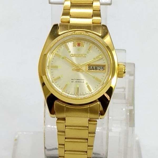 Relógio de Pulso Feminino Orient Automatico Dourado FNQ0A009C9  - E-Presentes