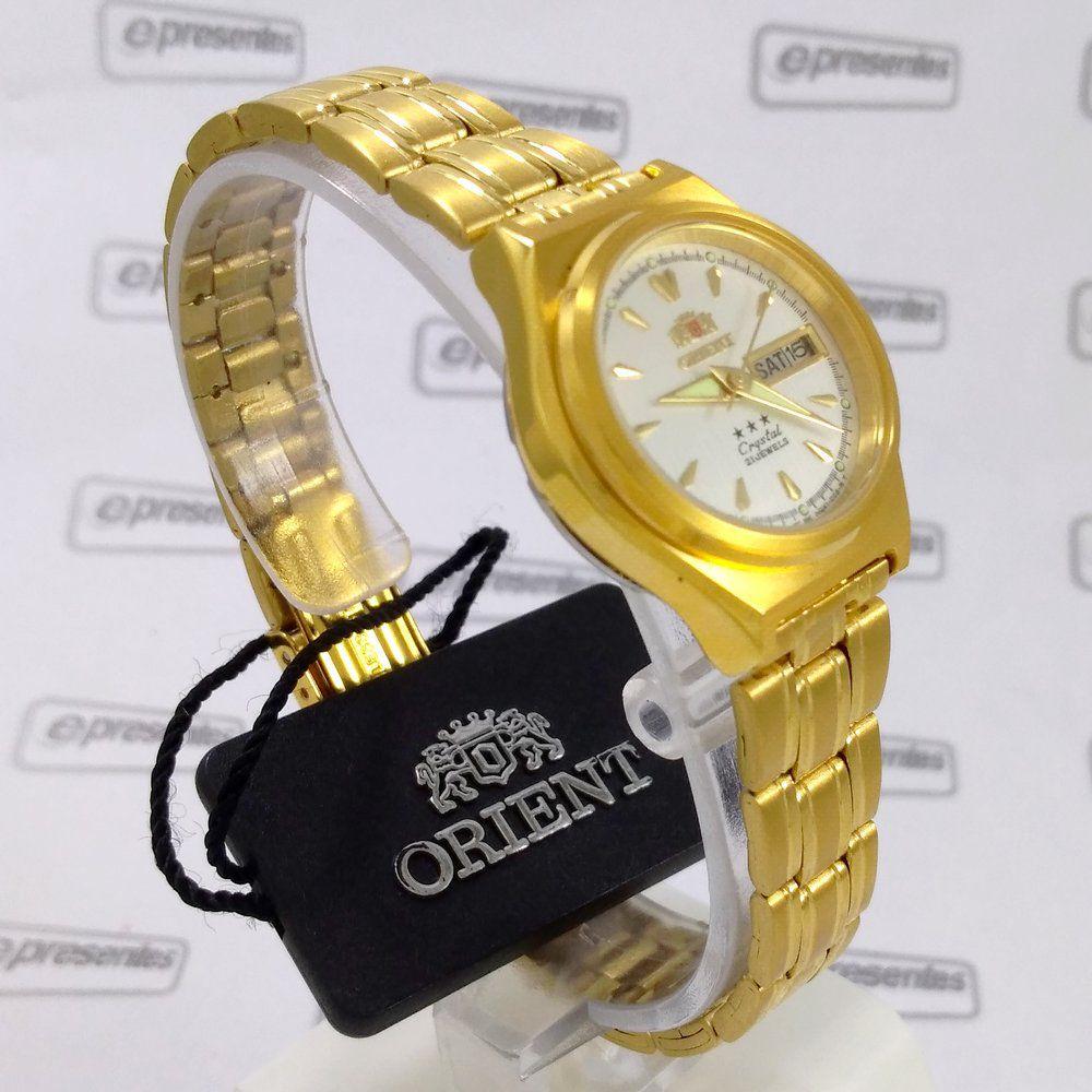 Relógio de Pulso Feminino Orient Automatico Dourado FNQ1S002W9  - E-Presentes
