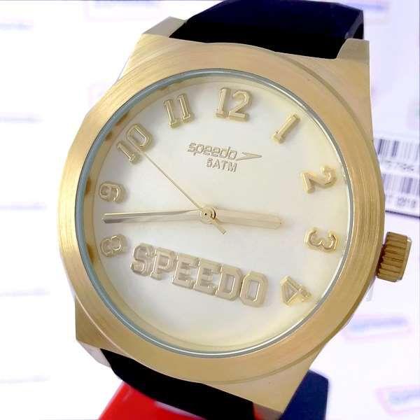 Relógio Feminino Dourado Grande Speedo wr50 Analogico 43mm 64011LPEVDI2  - E-Presentes