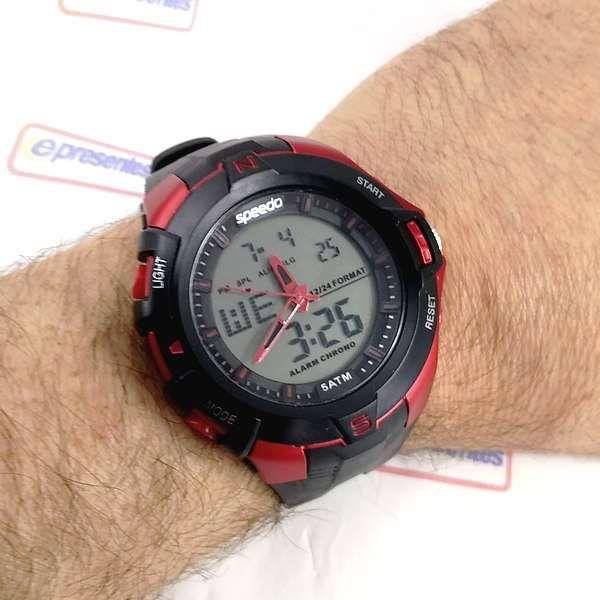 Relógio Esportivo AnaDigi Speedo wr50 estilo Grande 52mm crono luz  - E-Presentes