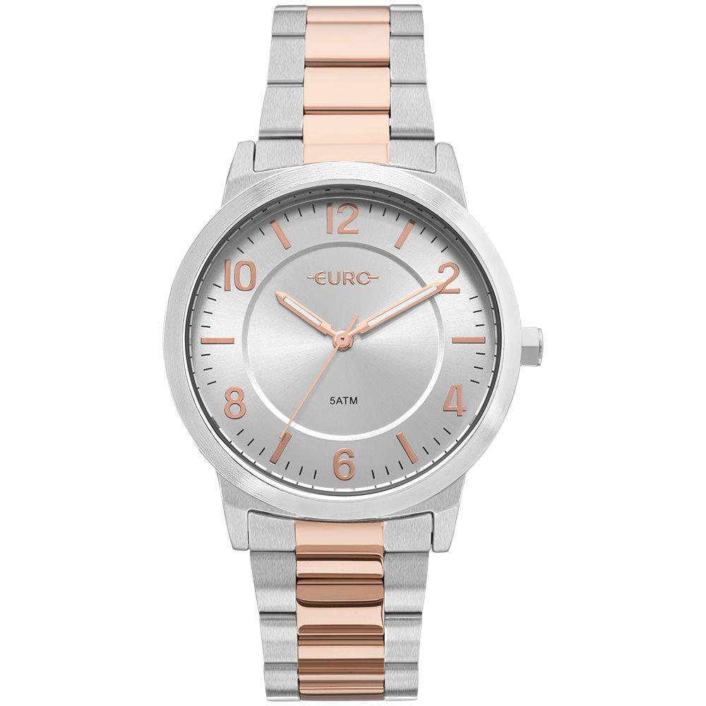 Relógio Euro Feminino Bicolor Trendy Prata EU2036YLW/5K  - E-Presentes