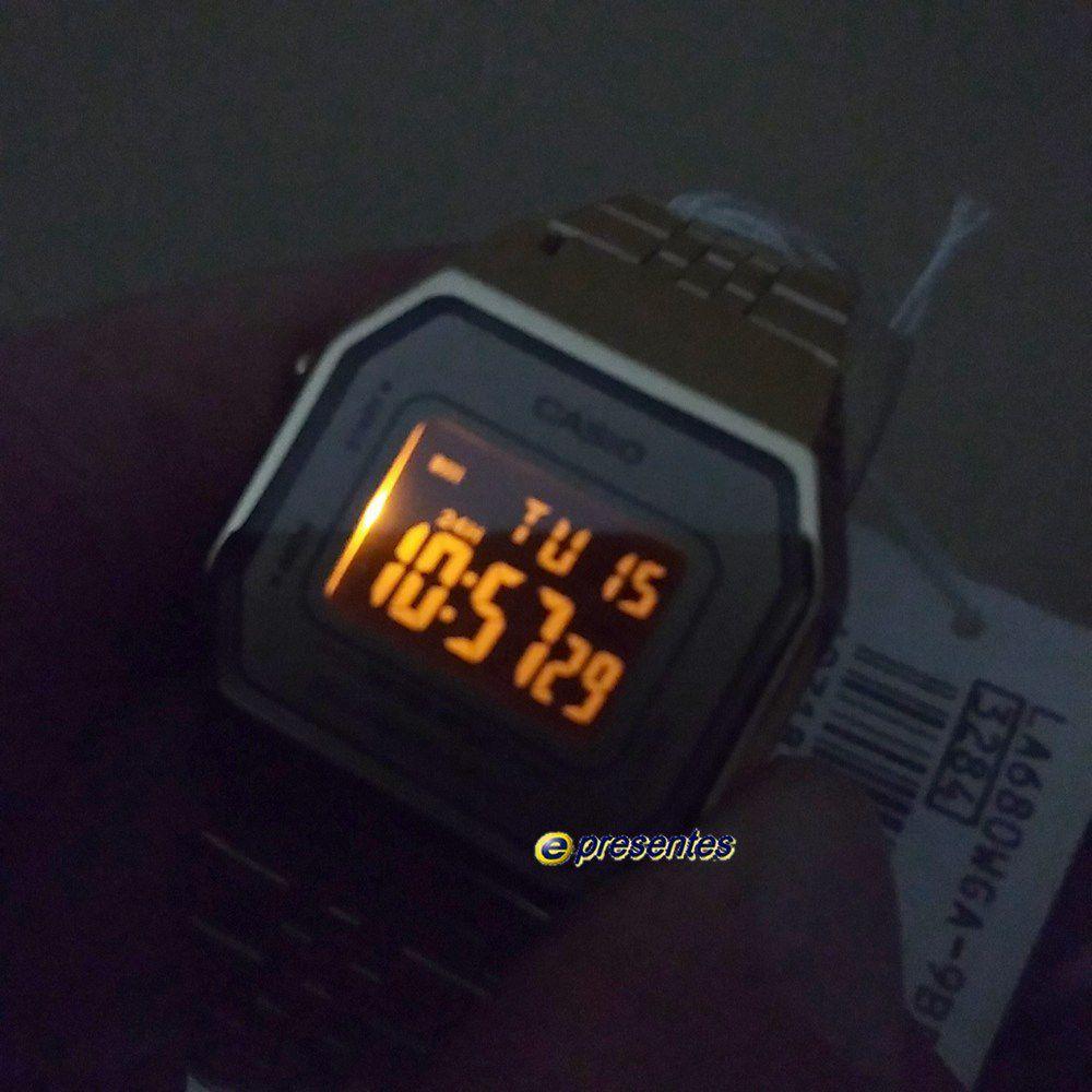 Relógio Feminino Casio Digital Dourado Vintage La680wga 9bdf  - E-Presentes