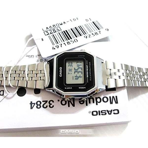 Relógio Feminino Casio Digital Prateado Vintage LA680WA-1DF  - E-Presentes