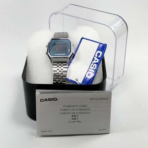 Relógio Feminino Casio Digital Prateado Vintage LA680WA-2  - E-Presentes