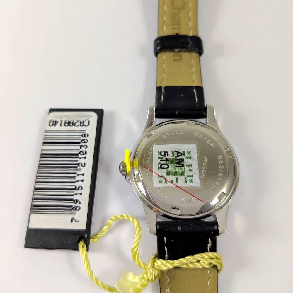 Relógio Feminino Champion CA28814Q prateado Pulseira couro 27mm  - E-Presentes