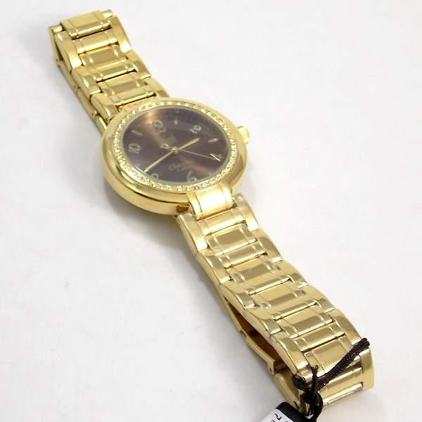 b3cc00a3212 Relógio Feminino Dumont Dourado Cristais Swarovski Sw85026r - E-Presentes