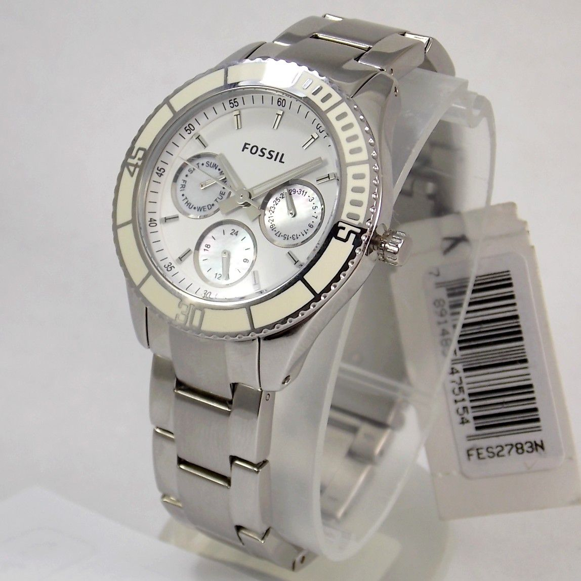 Relógio Feminino Fossil FES2783N Aço Mostrador Madreperola  - E-Presentes
