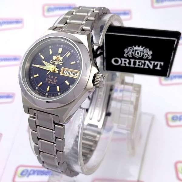 5e607f2d534 Relógio Feminino Orient Automatico Aço Inox Azul Marinho FNQ18004D9 - E- Presentes