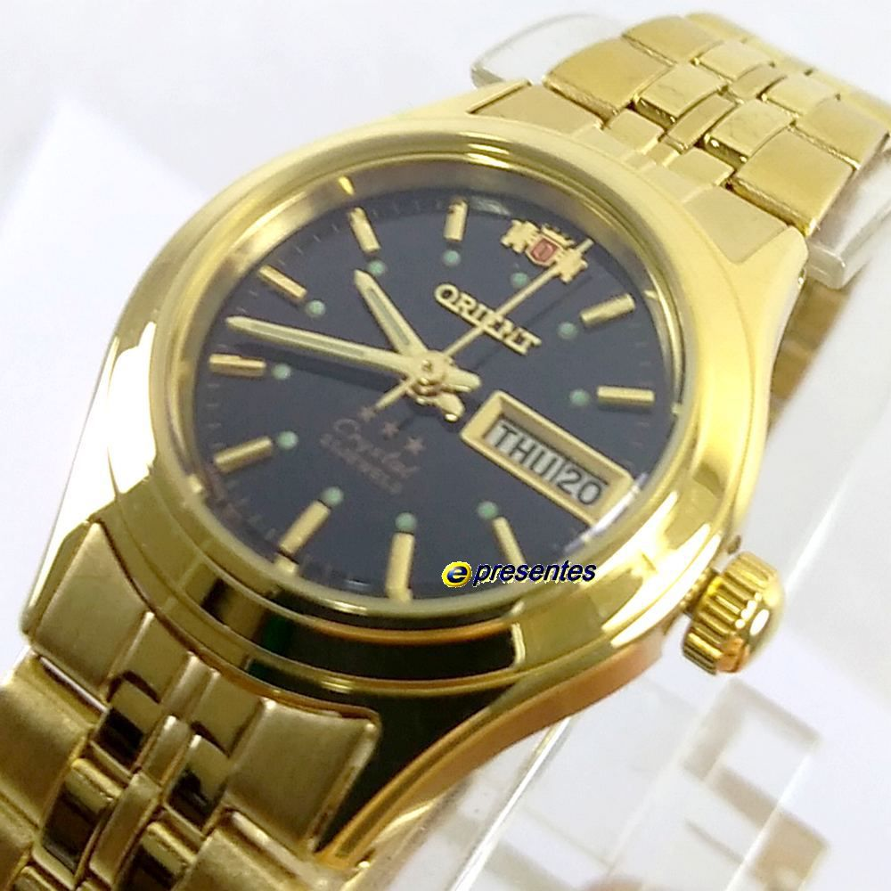 Relógio Feminino Orient Automatico Dourado Mini Fnq0400Fb9  - E-Presentes