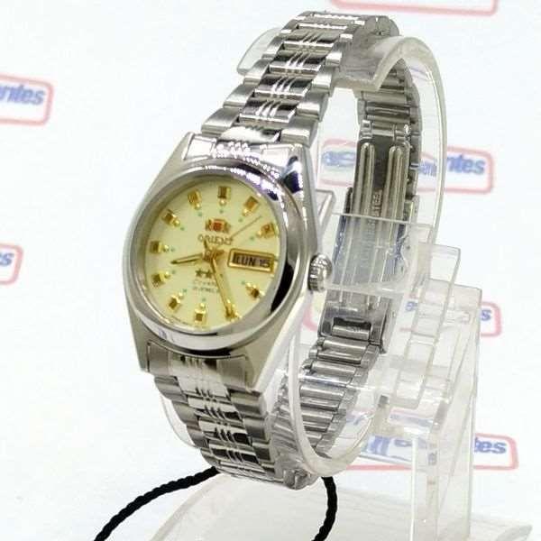 bce1288c0a6 Relógio Feminino Orient Automatico FNQ1X003C9 Fundo cor Champagne - E- Presentes ...