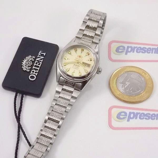 Relógio Feminino Orient Automatico FNQ1X003C9 Fundo cor Champagne  - Alexandre Venturini