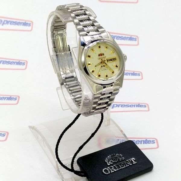 47fd904da8a ... Relógio Feminino Orient Automatico FNQ1X003C9 Fundo cor Champagne - E- Presentes