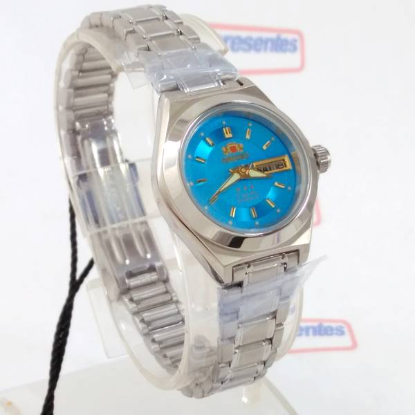 26817089f8f Relógio Feminino Orient Automatico Fundo AZUL FNQ18004L9 WR50 - E-Presentes