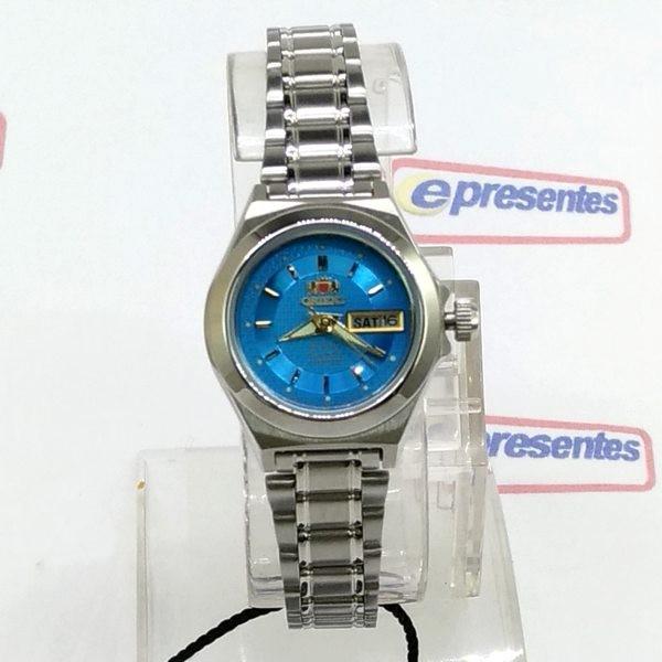 Relógio Feminino Orient Automatico Fundo AZUL FNQ18004L9 WR50  - E-Presentes