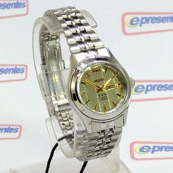 Relógio Feminino Orient Automatico Mini Prateado Fnq04004c9  - E-Presentes