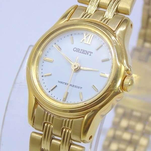Relógio Feminino Orient Mini Dourado FUB4W005G0 Quartz Retrô 22mm de largura  - Alexandre Venturini