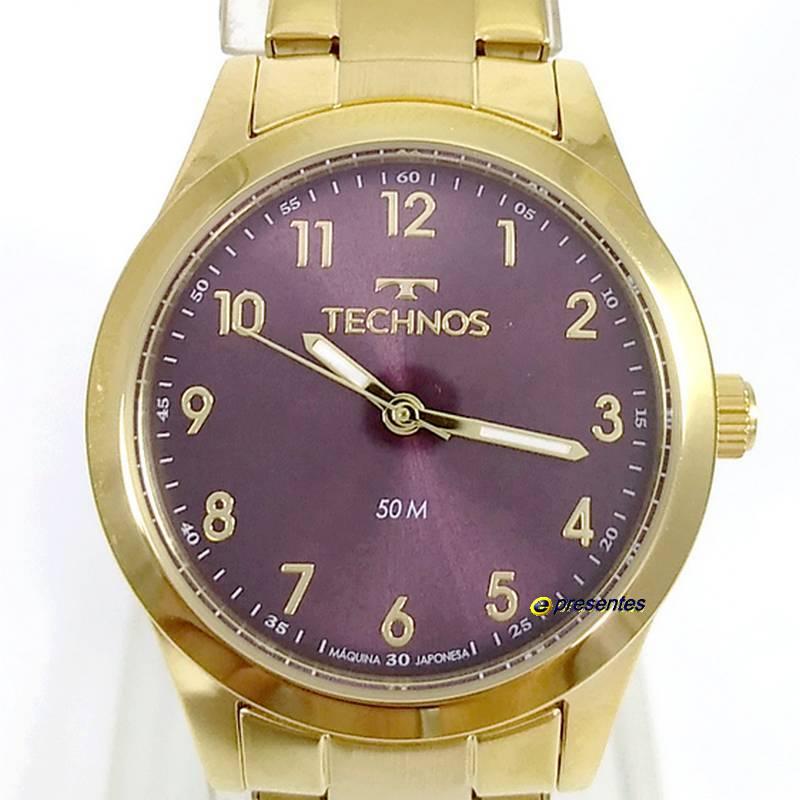 Relógio Feminino Technos Original Elegance Boutique Dourado 2035MKM/4G  - E-Presentes