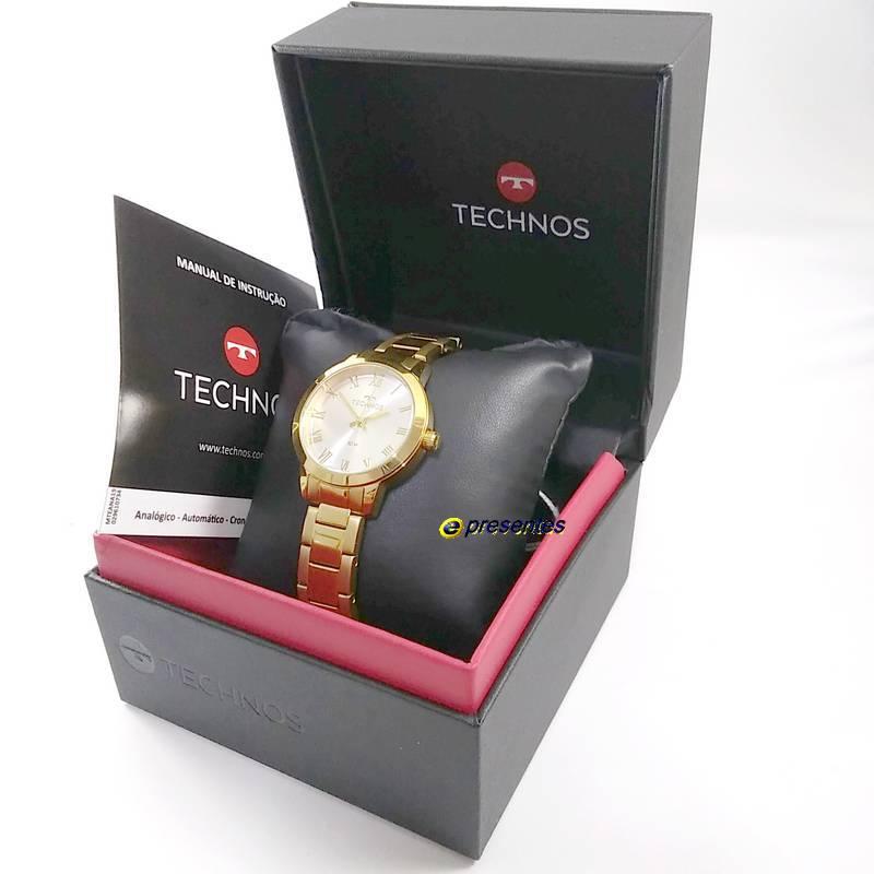 Relógio Feminino Technos Original Elegance Boutique Dourado 2035MKU/4K  - E-Presentes