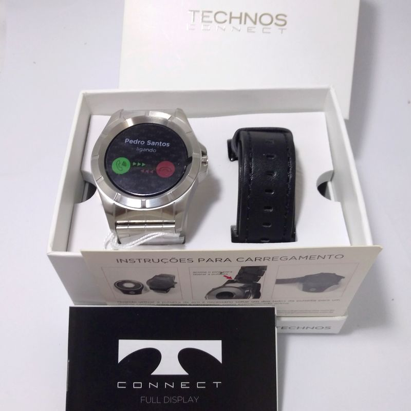 Relógio Inteligente SMARTWATCH Masculino Technos Connect Prata SRAA/1P  - E-Presentes