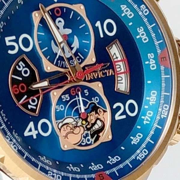 Relogio Invicta 25151 Cronograph Aço Inox Popeye Collection  - E-Presentes