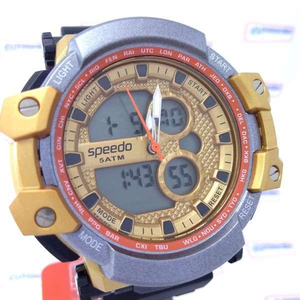Relógio Masculino AnaDigi Speedo wr50 estilo G-Shock Grande 56mm  - E-Presentes