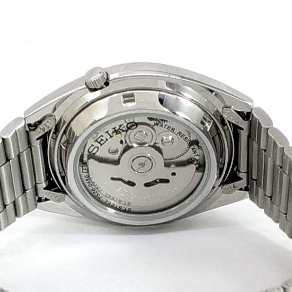 Relógio Masculino Automático Seiko5 Fundo Preto 38mm SNXS79K  - E-Presentes