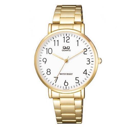 Relógio Masculino Dourado Inox Q&Q Q978J004Y - Maq Citizen  - E-Presentes