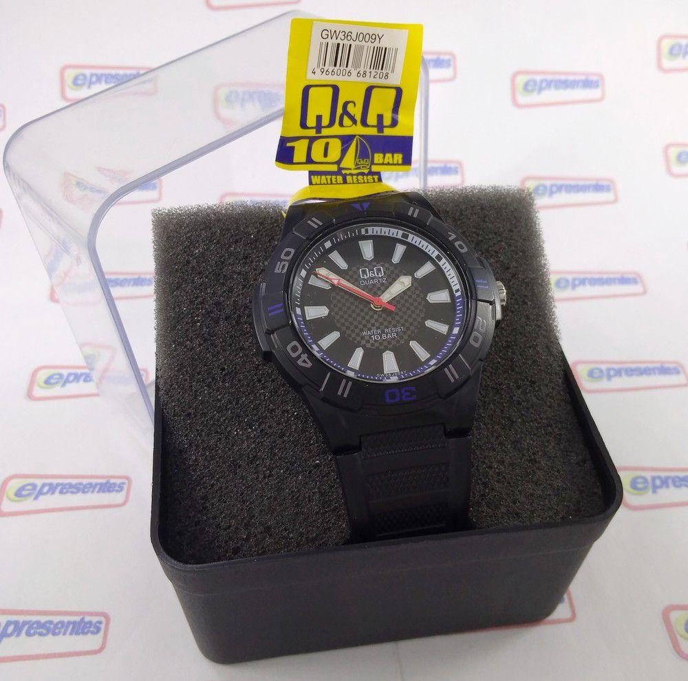 Relógio Masculino Mariner Q&Q Maquina Citizen WR100 42mm GW36J009Y  - E-Presentes