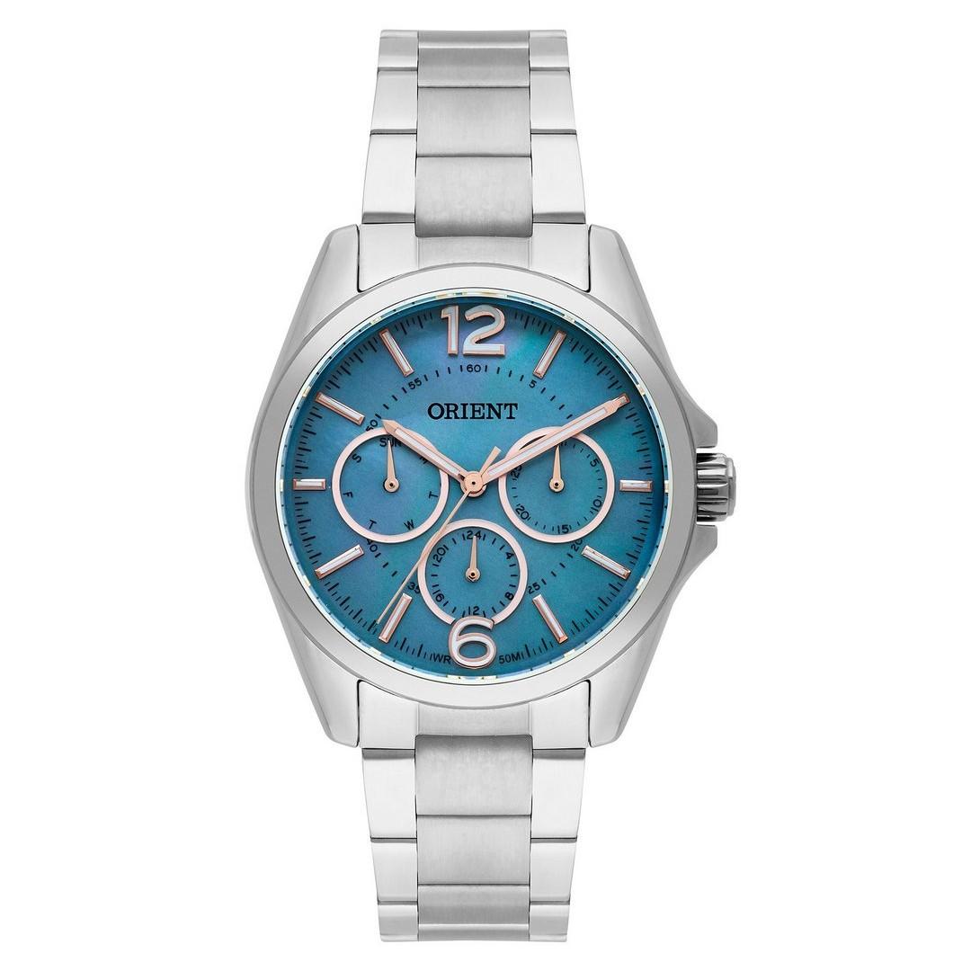 Relógio Masculino Orient Analógico Quartz FBSSM032 G2SX 40mm WR50M  - E-Presentes