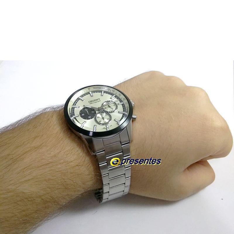 Relógio Masculino Orient Analógico Quartz MBSSC206 S1SX 44mm WR50M  - E-Presentes