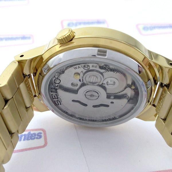 Relógio Masculino Seiko Automatico Dourado 38mm SNKA10K1  - E-Presentes