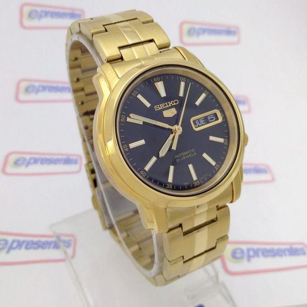 Relógio Masculino Seiko Automatico  Dourado SNKL88K1   - E-Presentes