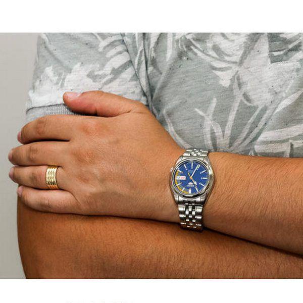 Relógio Masculino Seiko Automatico SNK371K1 Aço Inox Fundo Azul  - E-Presentes