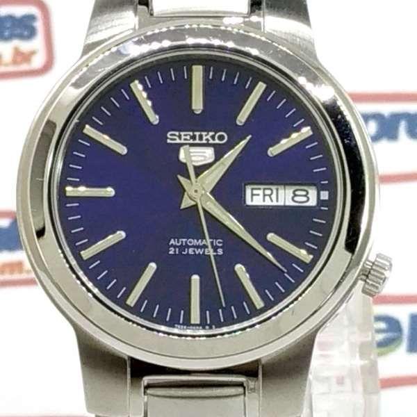 Relógio Masculino Seiko Automático SNKA05K1 Aço Inox Fundo Azul  - Alexandre Venturini