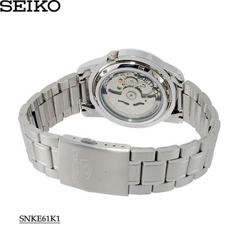 Relógio Masculino Seiko Automatico SNKE61K1 Aço Inox 37MM   - E-Presentes