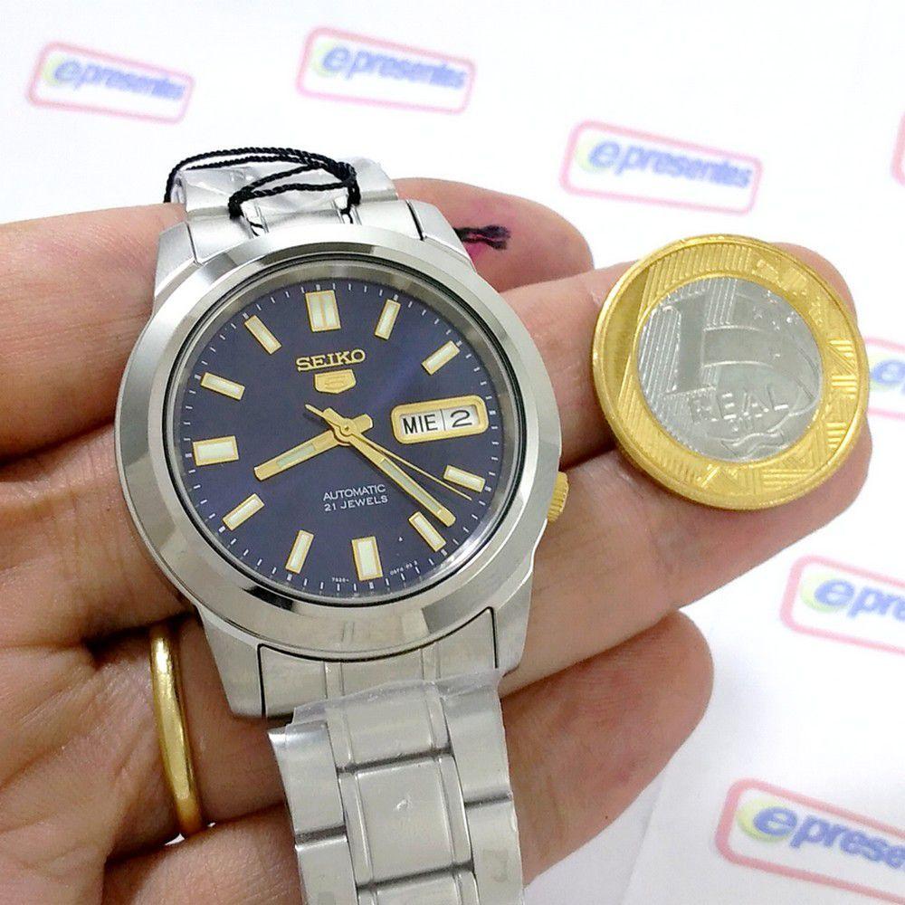 Relógio Masculino Seiko Automatico SNKK11K1 Aço Inox 37MM   - E-Presentes